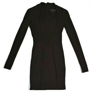 Black French Connection Long Sleeve Mini Dress - 0